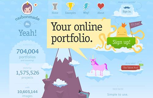 Online Portfolio Creator Tool - Carbonmade