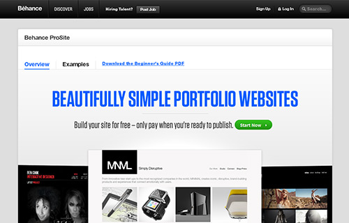 Online Portfolio Creator Tool - Behance Prosite
