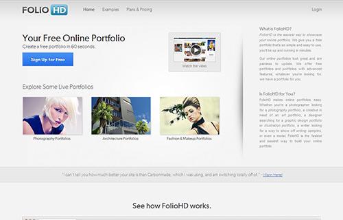 Online Portfolio Creator Tool - FolioHD