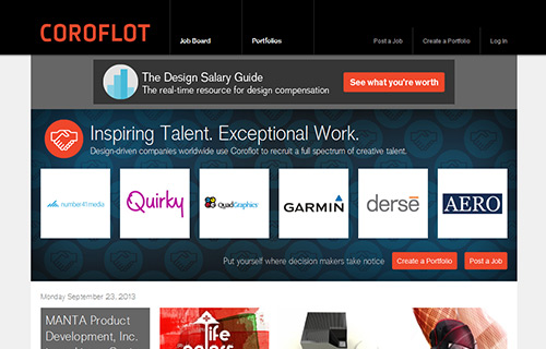 Online Portfolio Creator Tool - Coroflot