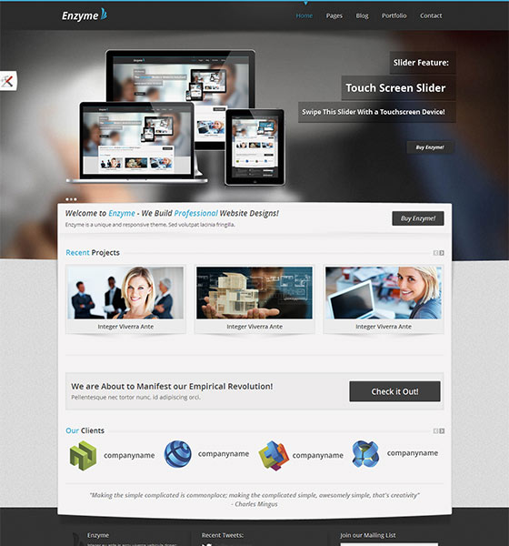 Enzyme - Free Responsive HTML5 Template