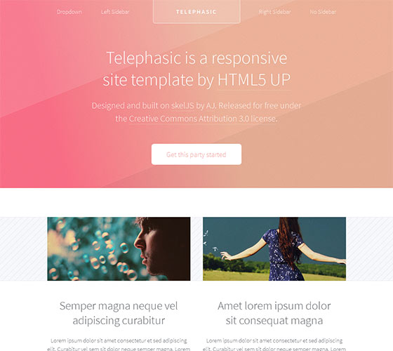 Telephasic - Free Responsive HTML5 Template