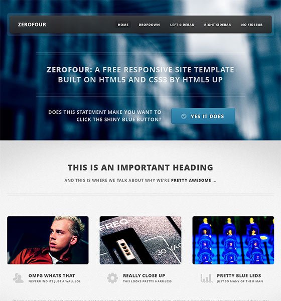 Zerofour - Free Responsive HTML5 Template