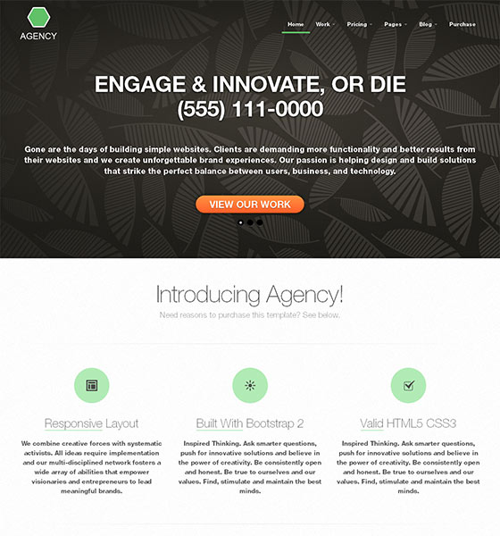 Agency - Free Responsive HTML5 Template