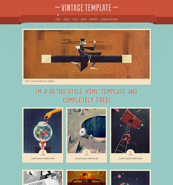 Vintage - Free Responsive HTML5 Template