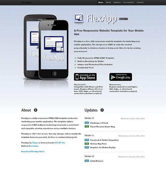 FlexApp - Free Responsive HTML5 Template