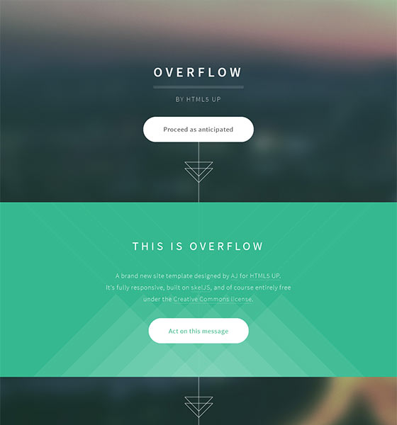 Overflow - Free Responsive HTML5 Template