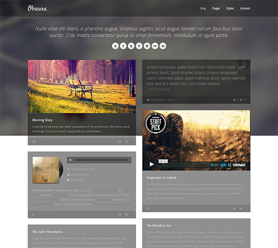 Obscura - Free Responsive HTML5 Template