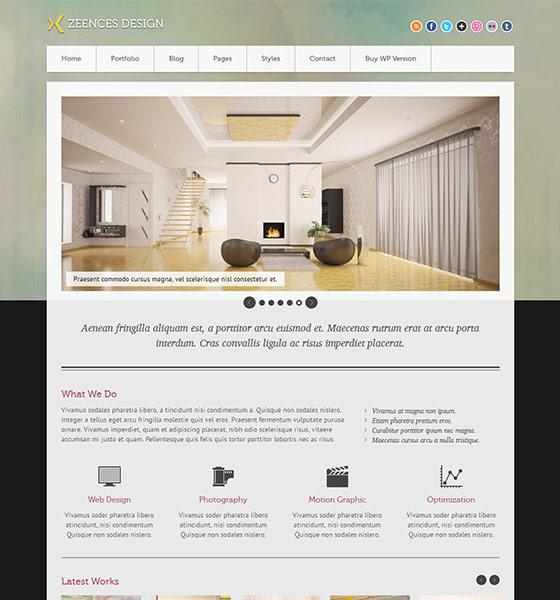 Zeences Light - Free Responsive HTML5 Template