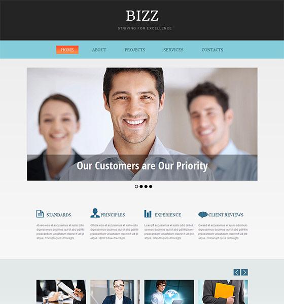 Bizz - Free Responsive HTML5 Template