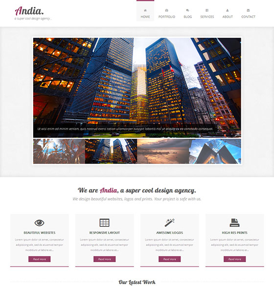 Andia - Free Responsive HTML5 Template