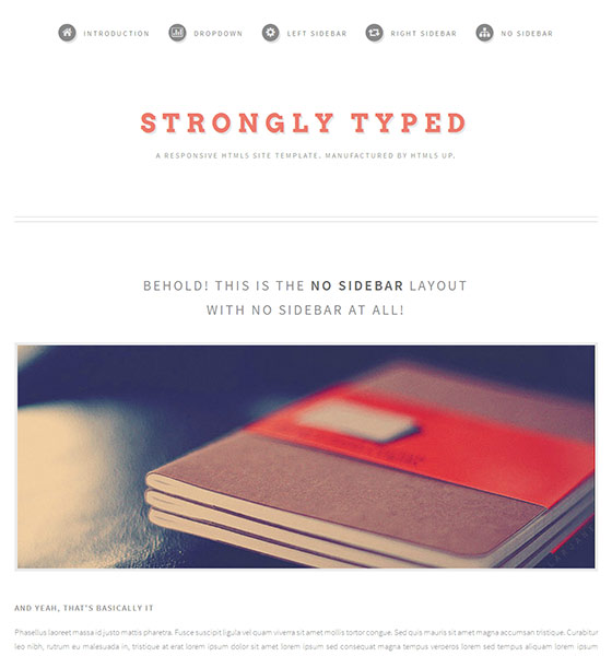 Strongly Typed - Free Responsive HTML5 Template