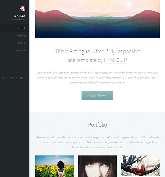 Prologue - Free Responsive HTML5 Template