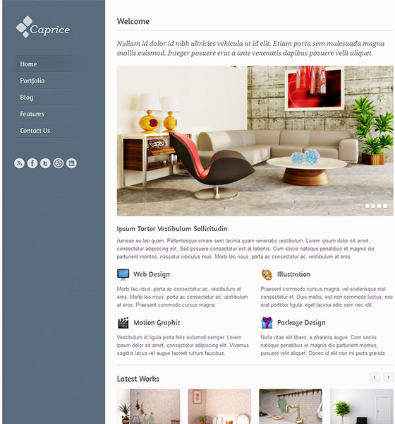 Caprice - Free Responsive HTML5 Template