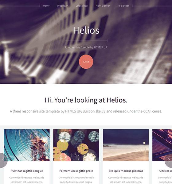 Helios - Free Responsive HTML5 Template