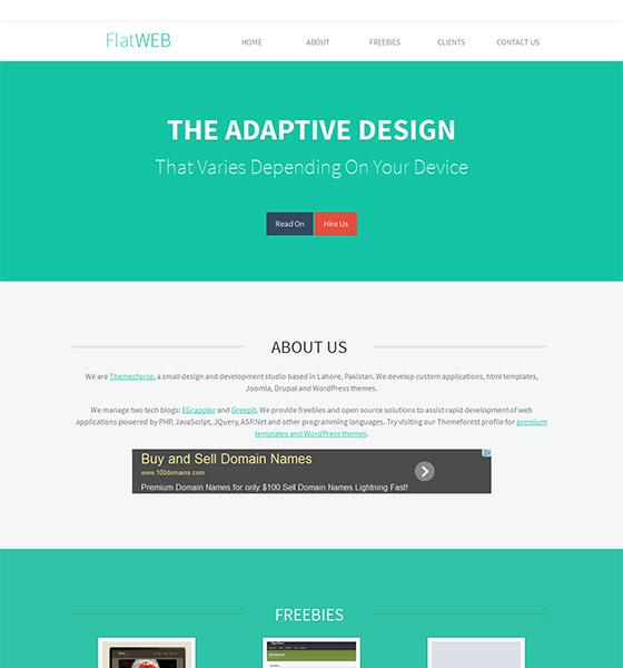 FlatWEB - Free Responsive HTML5 Template