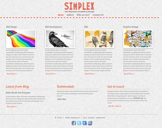 Simplex - Free Responsive HTML5 Template