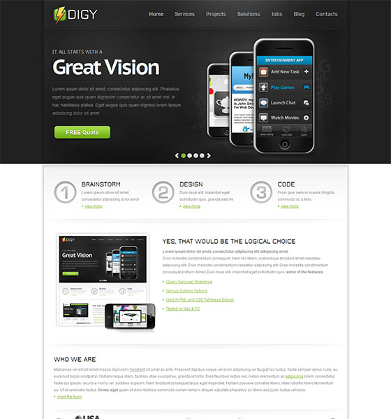Digy - Free Responsive HTML5 Template