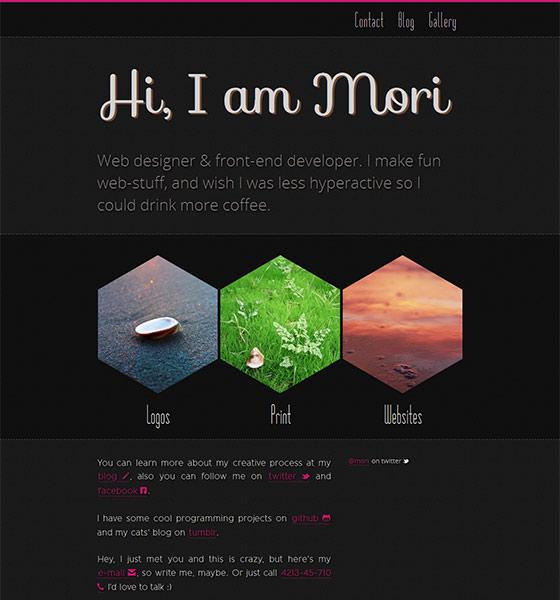 Mori-Dark - Free Responsive HTML5 Template