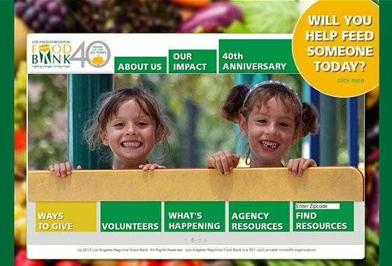 Charitable Organization Web Design - LA food bank