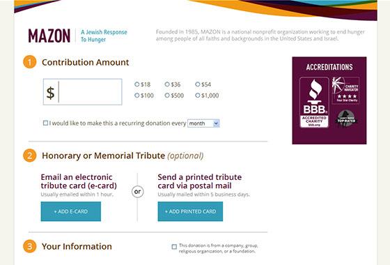Charitable Organization Web Design - Mazon