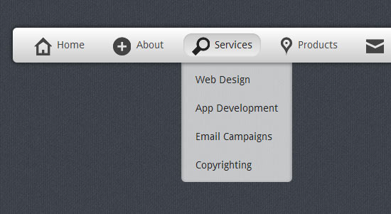Stunning Menu in CSS3