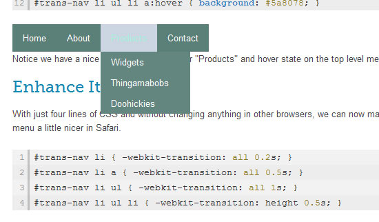 Nicer Navigation with CSS Transitions