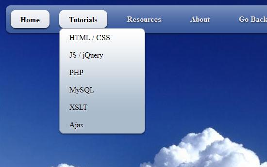 Creating a cool CSS3 Dropdown Menu