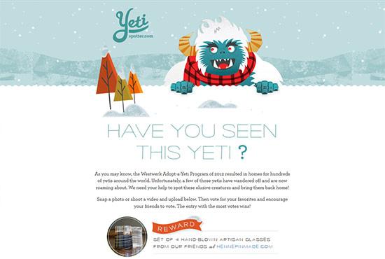 Illustration in Web Design - Yeti Spotter
