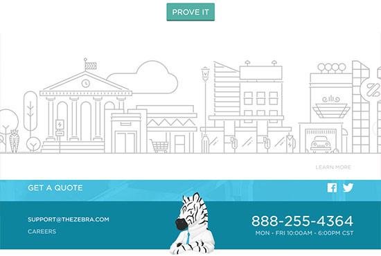 Illustration in Web Design - The Zebra
