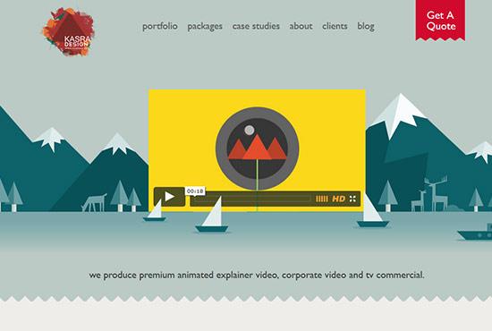 Illustration in Web Design - Kasra Design