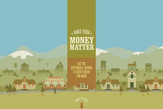 Illustration in Web Design - Make Your Money Matter