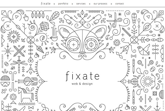 Illustration in Web Design - Fixate