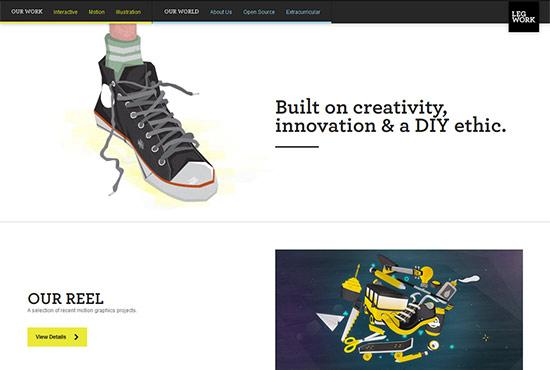 Illustration in Web Design - Leg Work