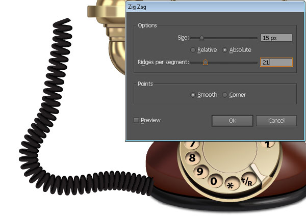 Create the Dial of the Telephone