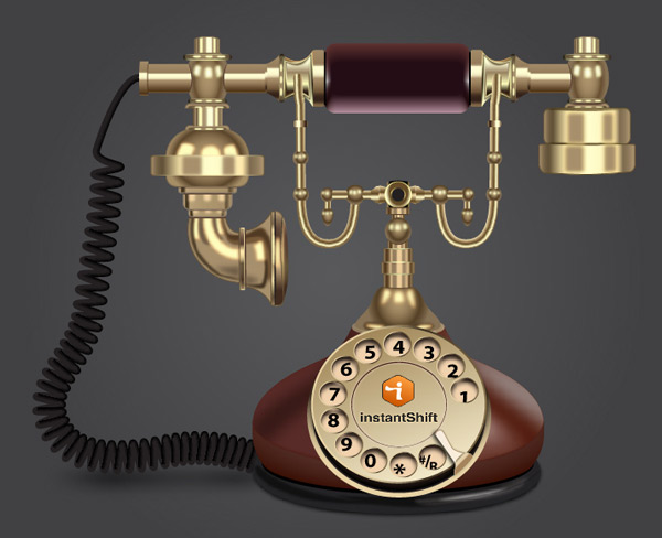 Final Result - Old Style Telephone in Illustrator