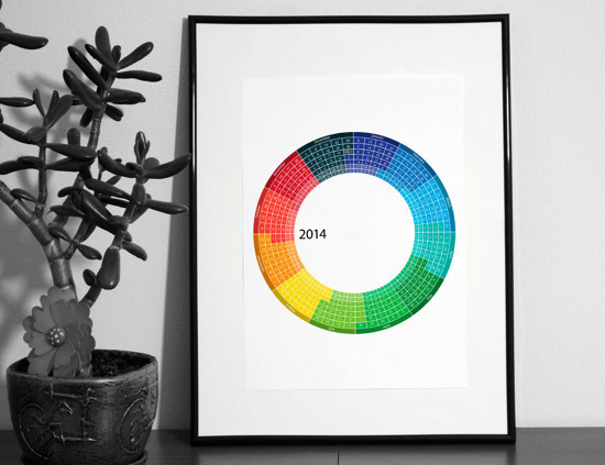 Creative calendar 2014 by Alexander Khomutov