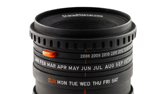 The World's First Camera Lens Calendar