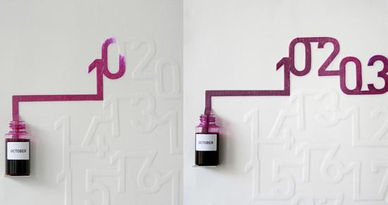 Creative Calendar Designs: Ink Calendar
