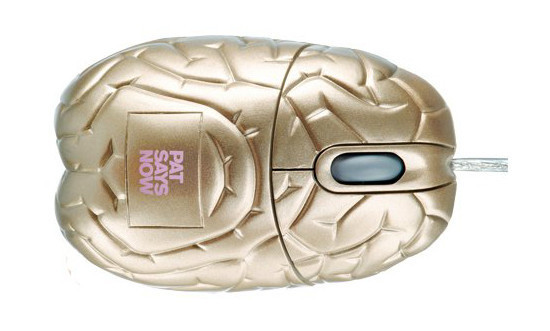 Gold Brain Optical Mouse