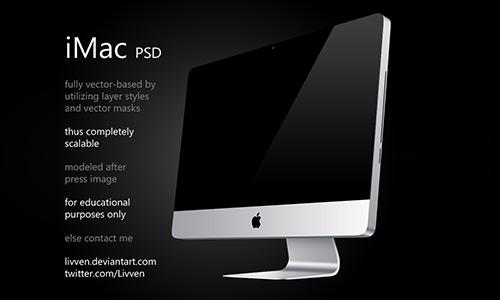 Beautiful iMac Mockup PSD Designs