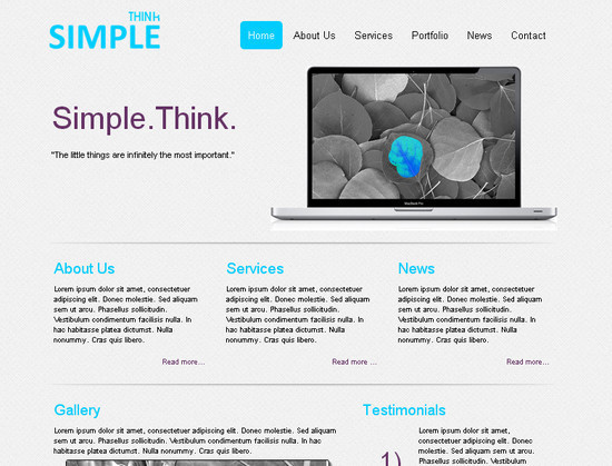 ThinkSimple HTML5 and CSS3 Template