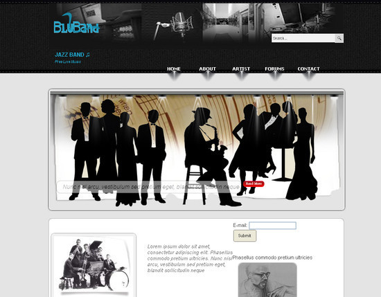 BlueBand HTML5 and CSS3 Template