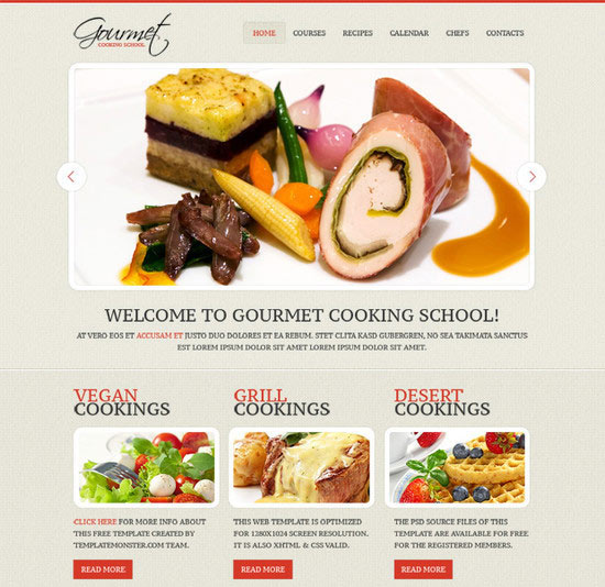 Tasty-Looking Skin for Culinary Site