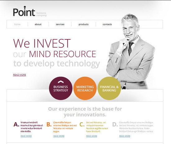 Free Website Template for Business Company. Your Efficient Start