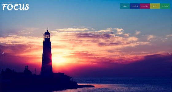 Multi-page Portfolio Website Design for Photographers