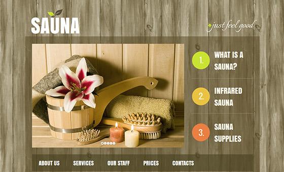 instantShift - Sauna Website Design with Wood Texture