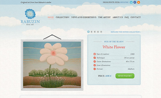 instantShift - Fine Art Website Design with Sky Texture