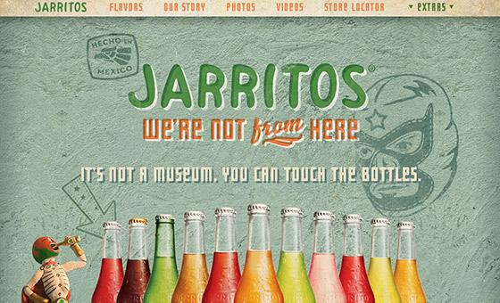 instantShift - Jarritos Website with Pain Wall Texture