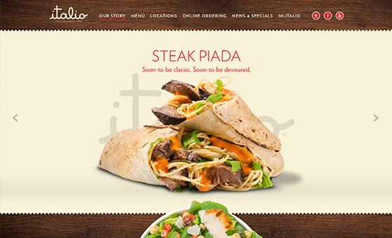 instantShift - Italio Kitchen Website with Wood Textured Background